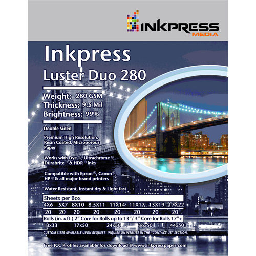 """8.5""""x11"""" Luster Duo 280gsm 20 Sheets"""