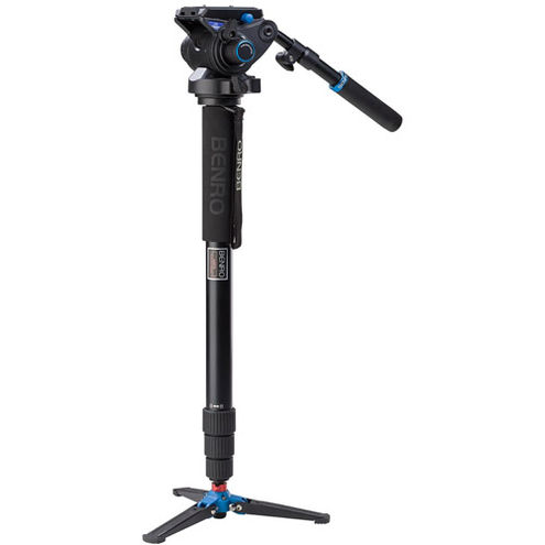 Aluminum Video Monopod Kit with S6 Video Head and Bag A48TDS6