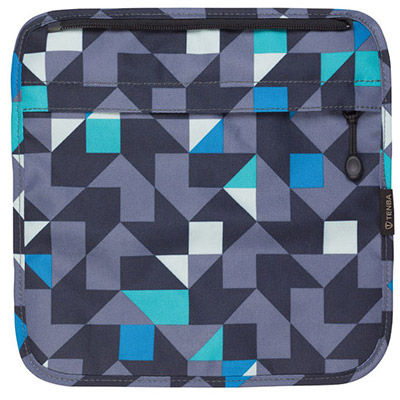 Switch Cover 7 Blue/Gray Geometric