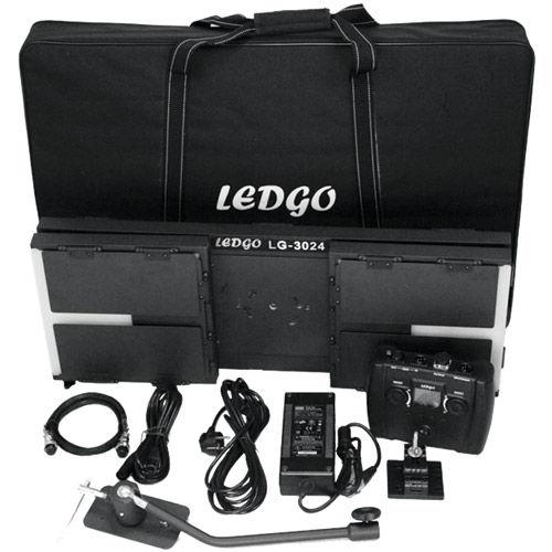 LG-3024 DMX Studio Light Bi Color with Controller Barndoor, Diffusor