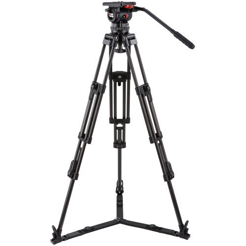 V15PGSCF Video Kit with V15 Head, 3 Stage Carbon Fiber Tripod with Ground Spreader, and Case