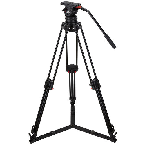 V10PGSCF Video Kit with V10 Head, 3 Stage Carbon Fiber Tripod with Ground Spreader, and Case