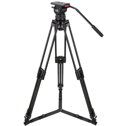 V15ALML Video Tripod Kit With V15 Head, 3-Stage Aluminum Tripod, Mid-Level Spreader, and Case