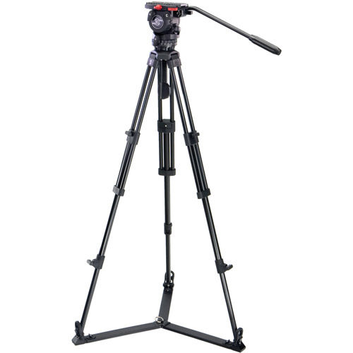 System FSB 6 / 2 D with FSB 6 Head, ENG 75/2 Aluminum Tripod, Ground Spreader and Case