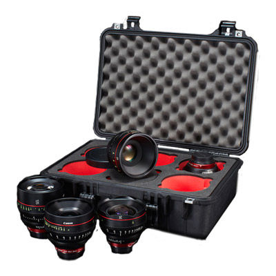 CASE for CINE Prime Lenses 6 cut-outs