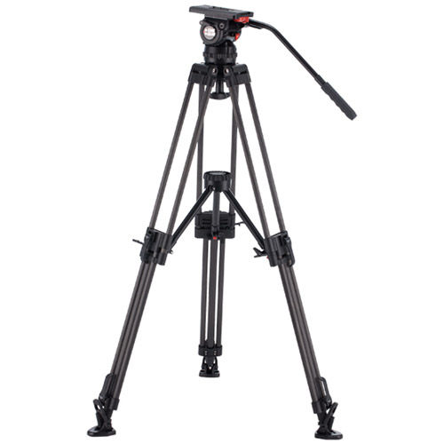 V20PCF Video Kit with V20 Head, 3 Stage Carbon Fiber Tripod with Ground Spreader, and Case