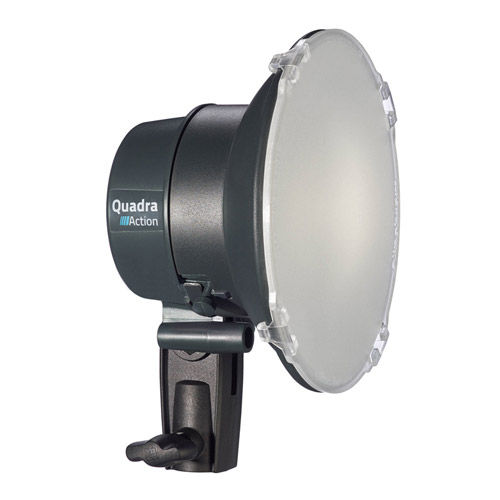 Quadra Action Head with 2.5 m Flash Cable, 13.5 cm and Reflector Multifunction Cap