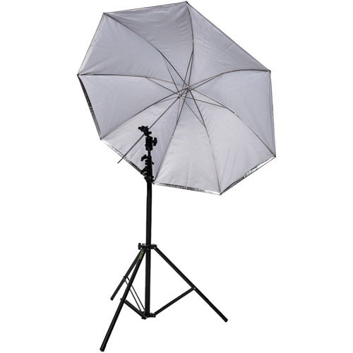 """45"""" Umbrella Kit with Medium Light Stand and Umbrella Holder with Cold Shoe with Clamp Lock"""