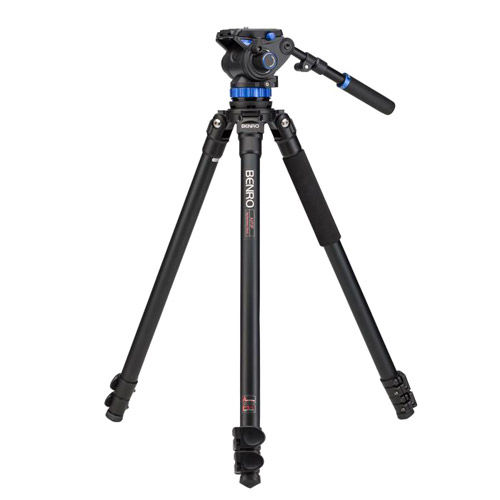 Aluminum Video Tripod Kit - Single Legs with S7 Video Head and Bag A373FBS7
