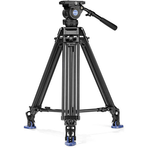 BV8 Aluminum Video Tripod Kit - Dual Legs with BV8 Video Head, A673T Legs, Mid Level Spreader and Bag