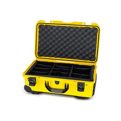 935 Case Yellow with Dividers w/Retractable Handle & Wheels