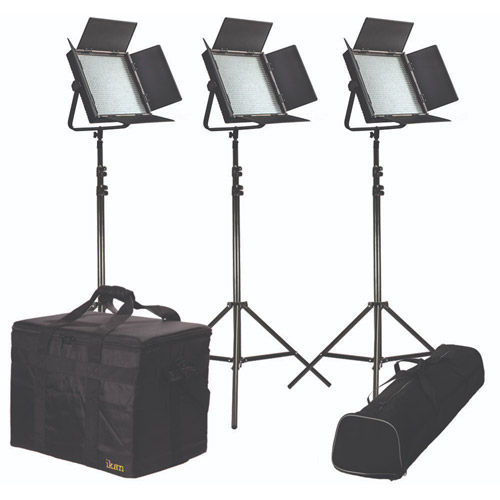 Kit with 3 X IFB1024 Lights AB and Sony V-Mount Battery Plate