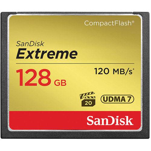 Extreme 128GB CF VPG 20 UDMA 7 Card 120MB/s, 800x