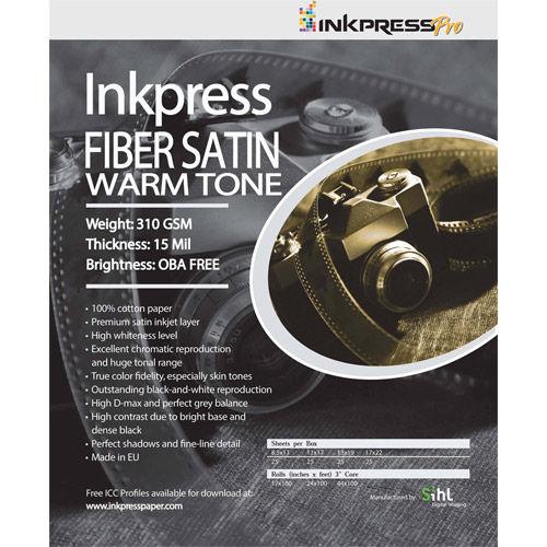 "11"" x14"" Fiber Satin Warm Tone 290gsm, 15 mil, 25 Sheets"