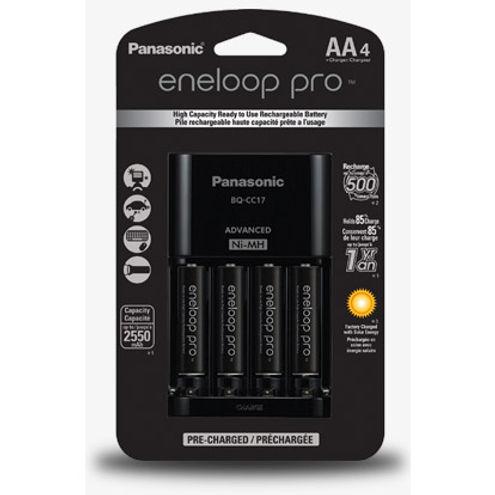Eneloop Pro Charger Kit (2550 mAh NiMH AA 4-pack)