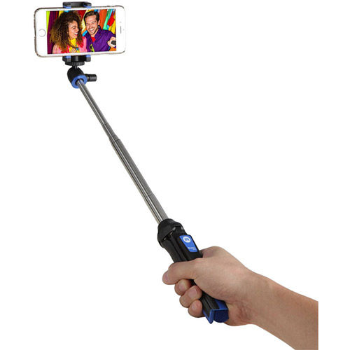 BK10 Pocket Tripod and Selfie Stick with Bluetooth Remote and GoPro and Phone Attachments