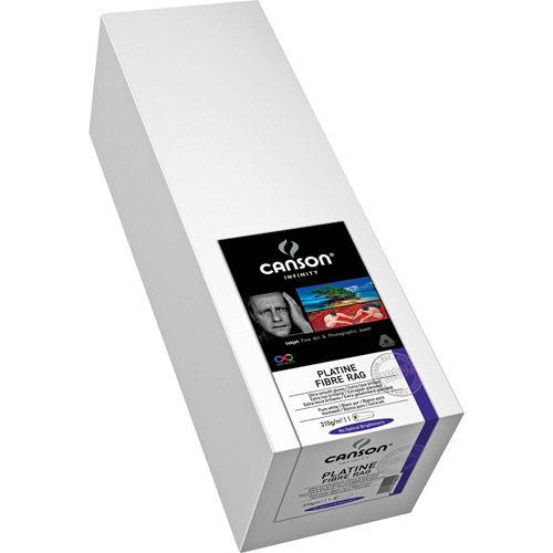 "60"" x 50' Infinity Platine Fibre Rag Satin - 310 gsm - Roll"