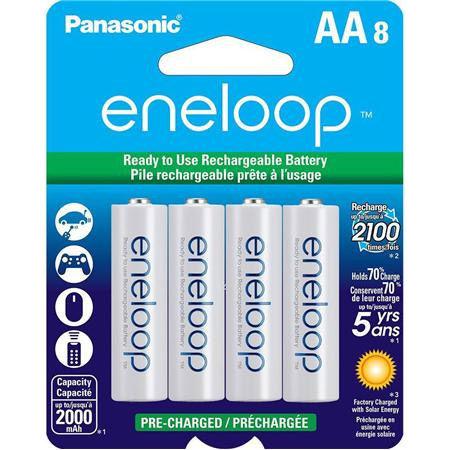 Eneloop 2000 mAh NiMH AA 8-pack