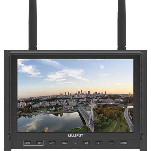 """7"""" FPV Monitor with Dual 5.8GHz 1280x800  with Channel Auto searching Function"""