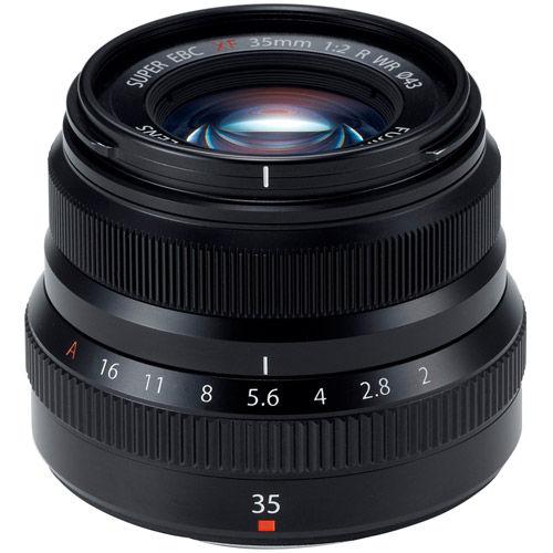 Fujinon XF 35mm f/2.0 R WR Black Lens
