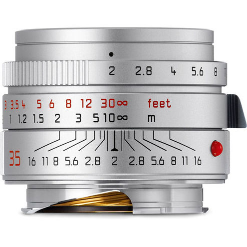35mm f/2.0 Summicron-M ASPH Silver Wide Angle Lens
