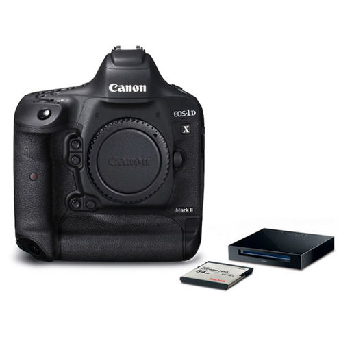 EOS 1DX Mark II Body with Bonus SanDisk CFast 64GB Memory Card and CFast Card Reader