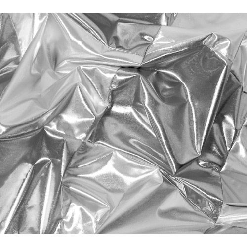 8' x 8' Silver Lame Butterfly Fabric