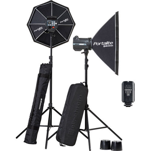 BRX 500/500 Softbox To Go Set  with EL-Skyport Transmitter Plus, 2x Stands and Stand Bag