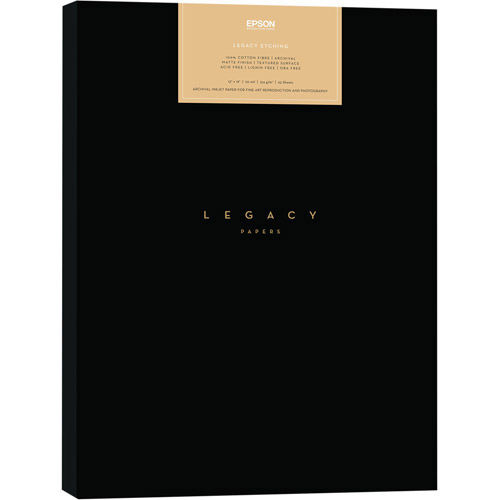 "8.5""x11"" Legacy Paper Sample Pack - 3 Sheets of Platine, Baryta, Fibre, Etching"