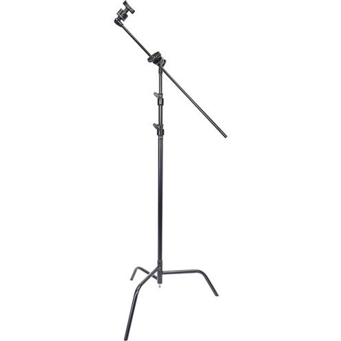 "40"" C-Stand w/Spring Loaded Base, Grip Head and Arm, Black"