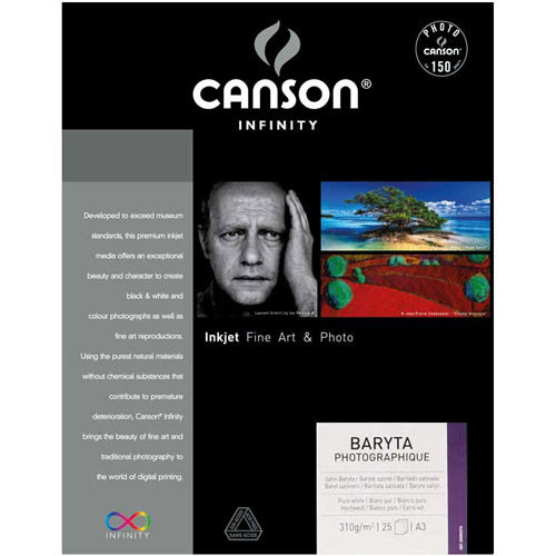 A3+ Infinity Baryta Photographique Satin - 310 gsm - 25 Sheets