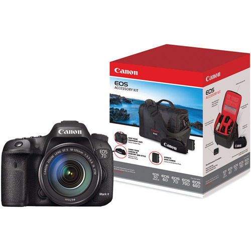 Canon EOS 7D Mark II Body With W-E1 Adapter, and EOS Accessory Kit