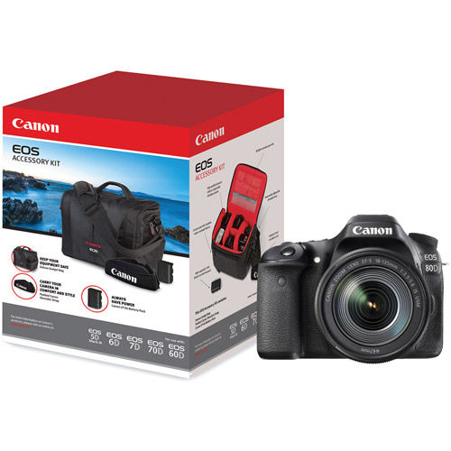 EOS 80D with  EF-S18-135mm f/3.5-5.6 IS USM Lens With Bonus EOS Accessory Kit