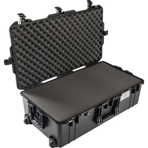 1615 Air Case Black w/ Foam and Retractable Handle & Wheels