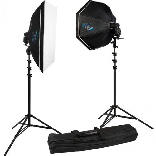 Rapid Box™ 2-Light Kit with Deflector Plate, Beauty Dish and Carry Case