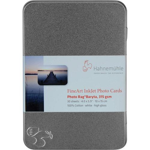 "5.8""x8.3"" Photo Rag Baryta 315gsm 30 Cards in a Tin Box"