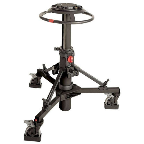 Pro-Ped Studio Pedestal, Black with 125mm wheels, cable guard & track locks