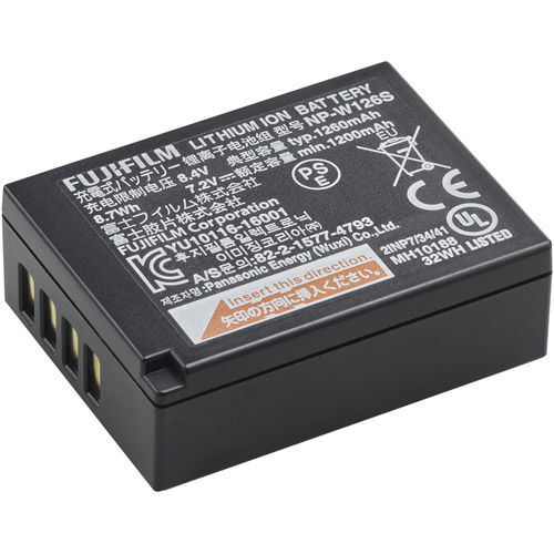 NP-W126S Rechargeable Lithium-ion Battery for X-Series Cameras