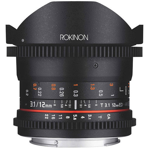 12mm T3.1 FF Cine DS Fisheye Lens for Nikon