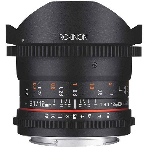 12mm T3.1 FF Cine DS Fisheye Lens for Pentax