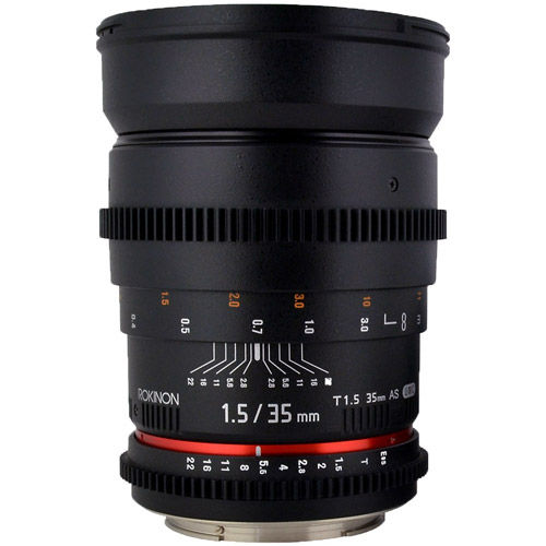 35mm T1.5 Cine Wide Angle Lens for Canon EF Mount