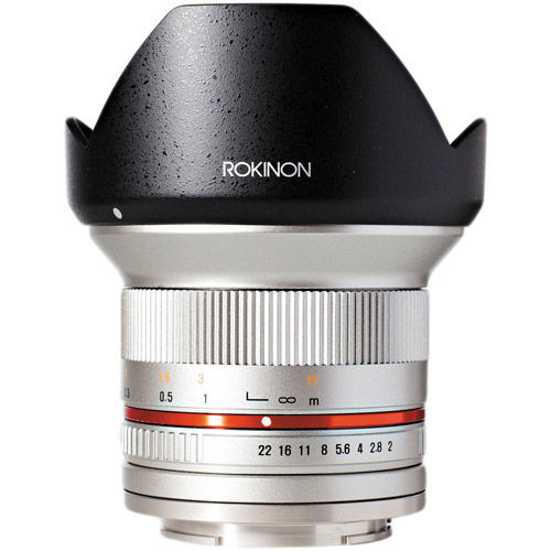 12mm F2.0  Ultra Wide Angle Lens for Fuji X Mount (Silver)