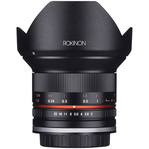 12mm F2.0  Ultra Wide Angle Lens for Canon M Mount (Black)