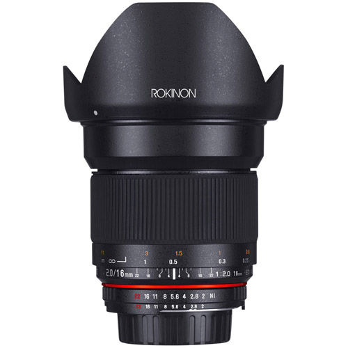 Rokinon 16mm F2 0 Ultra Wide Angle Lens for Canon EF Mount
