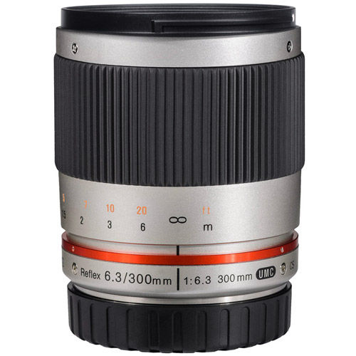300mm F6.3 Mirror Lens for Sony E-Mount (Silver)