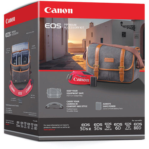 EOS Premium Acc Kit for 5D, 6D,7D,70D and 60D Includes Bag, LP-E6N, DSLR Strap
