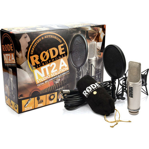 """NT2-A Multi Pattern 1"""" Dual Condenser Microphone, Cardioid and Figure 8, SM6 Shockmount and Cable"""