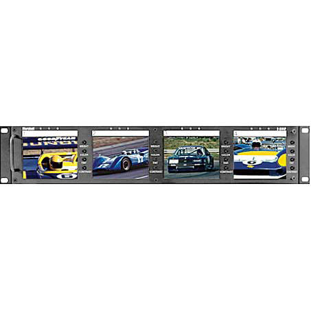"Quad 4"" LCD Screen Rack Mount Panel"