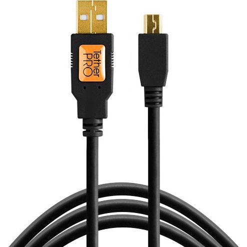 TetherPro USB 2.0 A Male to Micro-B 5-pin 15 (4.6) Black
