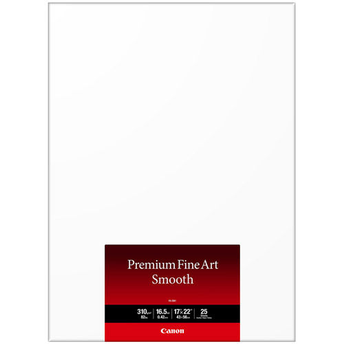 "17""x22"" FA-SM1 Premium Fine Art Smooth Paper 25 Sheets"